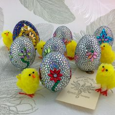 Sale Diamante Embellished Eggs, Choice of two designs, Discount, Easter Egg by SprattsDesigns on Etsy