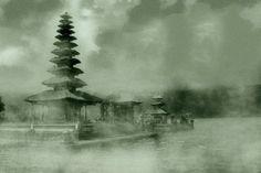 Bali, Temple on Bratan lake by Vittorio Chiampan