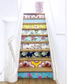 Wallpaper sample staircase! Beautiful!