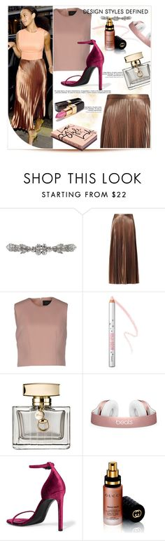 """""""Street Style: Solange"""" by tonituff ❤ liked on Polyvore featuring Barbara Casasola, A.L.C., Simone Rocha, Benefit, Gucci, Garance Doré, Yves Saint Laurent and Chanel"""