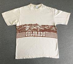 33426d1ba COLORADO Shirt 1978 Vintage/ 70s Rocky Mountains by sweetVTGtshirt Vintage  Mens T Shirts, Vintage