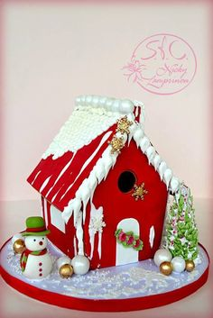 Gingerbread House Gingerbread house - Royal icing and fondant