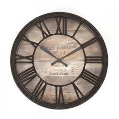 Pendule vintage Ø39 x 7,7 cm d'épaisseur