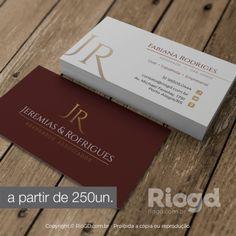 Lindos cartões de visita para Advogados. Impressão com Verniz em Alto Relevo. http://riogd.com