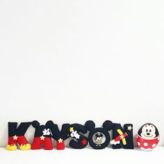 Mickey mouse theme felt name garland