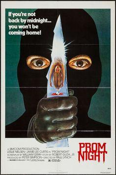"Prom Night (Avco Embassy, 1980). One Sheet (27"" X 41""). Horror. Starring Leslie Nielsen , Jamie Lee Curtis, Casey Stevens, and Eddie Benton. Directed by Paul Lynch."
