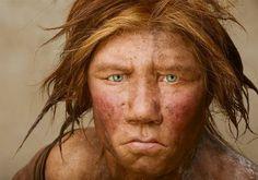 ネアンデルタール人の女性(DNA情報をもとに復元) ホモサピエンスはネアンデルタール人と他種の異種交配であるとする説