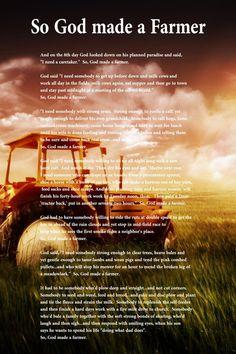 @Kimberly Peterson Peterson Peterson Peterson Marie ...kind of true...  Canvas God made a Farmer