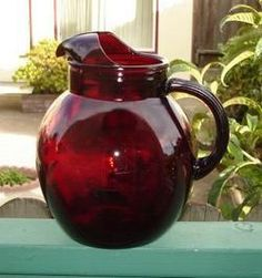More kitchen--Anchor Hocking royal ruby pitcher