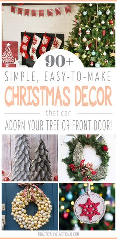 Over 90 Christmas crafts to get your holiday inspiration churning! Check out all of these Christmas trees, wreaths, and ornaments we've got rounded up for you! Winter Diy, Winter Holidays, Christmas Holidays, Christmas Crafts, Decoration Christmas, Christmas Tree Wreath, Christmas Ornaments, Holiday Decorating, Decorating Ideas