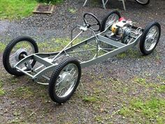 1932 CycleKart American : Registry : The AutoShrine Network Tuco Benedicto Pacifico Juan Maria Ramirez's 1932 CycleKart American Mini Buggy, Soap Box Cars, Go Kart Plans, Go Kart Frame Plans, Velo Cargo, Diy Go Kart, Drift Trike, Go Car, Pedal Cars