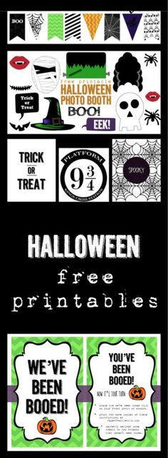 12 Halloween free printables for your Halloween decor. Have fun decorating this Halloween season with different Halloween banner, photo booth, art prints, tutorials and more.