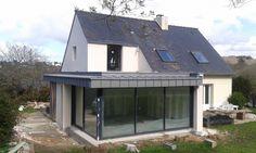Extension Veranda, House Extension Design, Glass Extension, Roof Extension, House Design, Garden Room Extensions, House Extensions, Cout Extension Maison, House Cladding