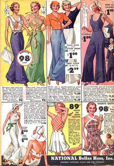 Q's Daydream: Inspiration Friday, 1930's Beach Pajamas & Such