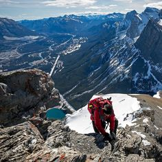 This is one of my favourite adventure photos taken of me (probably one of the most badass ones so far as well) and it was taken by the very talented @beckylynnsim. Grassi lakes and Canmore sit way down behind me on this scramble section of EEOR. -------------------------------  @beckylynnsim ------------------------------ #mountains #canmore #scramble #hike #explorealberta Re-post by Hold With Hope