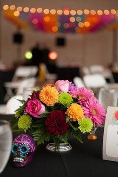 Rainbow Day of the Dead Wedding: James & Ashley