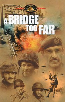 A Bridge Too Far (1977) - with Sean Connery, Ryan O'Neal, Michael Cane, Gene Hackman, Anthony Hopkins, James Caan, Liv Ullmann, Arthur Hill, Laurence Olivier, Robert Redford, John Ratzenberger A historical telling of the failed attempt to capture several bridges on a road to Germany in World War II, in a campaign called Operation Market-Garden.