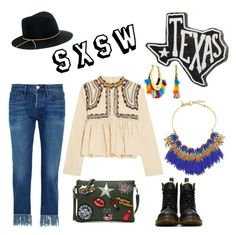 """""""South by South-West Style"""" by holliejade on Polyvore featuring Primitives By Kathy, 3x1, Rebecca Minkoff, Isabel Marant, Lele Sadoughi, Eugenia Kim, Dr. Martens, festivalstyle, Packandgo and SXSW Eugenia Kim, Primitives, Isabel Marant, Rebecca Minkoff, Shoe Bag, Polyvore, Stuff To Buy, Shopping, Collection"""