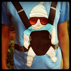 Andrew is SO going as this guy for Halloween next year. We will even have the baby accessory!