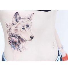 Wolf. Flower.