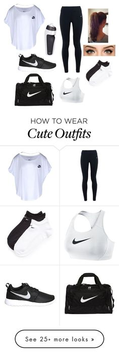 """Nike Outfit"" by faith-shelton7879 on Polyvore featuring NIKE, women's clothing, women's fashion, women, female, woman, misses and juniors"
