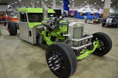 A Cummins-powered Peterbilt Rat Rod Semi?? That's maybe the best way to describe one of the most unique vehicles at a show full of them. The 855-cubic-inch Cummins-powered Peterbilt is proudl… Big Rig Trucks, Hot Rod Trucks, Semi Trucks, Old Trucks, Chevy Trucks, Pickup Trucks, Custom Big Rigs, Custom Cars, Diesel Rat Rod