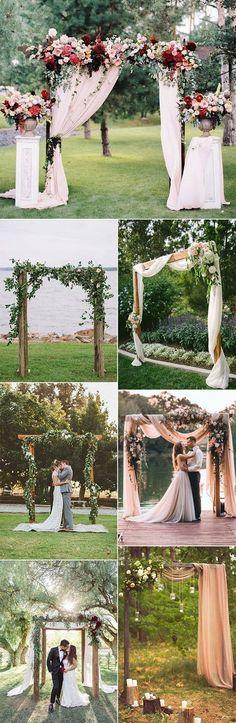 outdoor wedding ceremony arch decoration ideas for 2018 #weddingideas #weddingdecoration