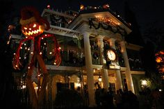 Disneyland Haunted House Holiday Style