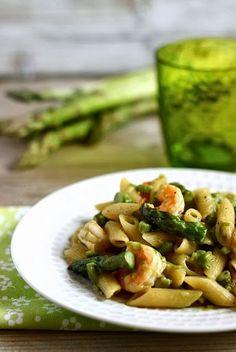 MIEL & RICOTTA: Penne risottate con asparagi e gamberi