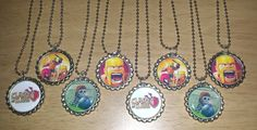 Set of 8 CLASH OF CLANS Flat Bottlecap Necklaces! Fast Shipping!!