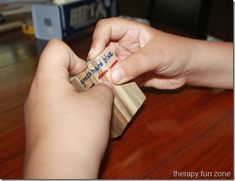 jenga writing: practice fine motor and handwriting