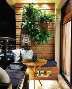 Apartment Balcony Decorating, Cozy Apartment, Apartment Balconies, Small Balcony Decor, Farmhouse Interior, Outdoor Furniture Sets, Outdoor Decor, Small Apartments, Interiores Design