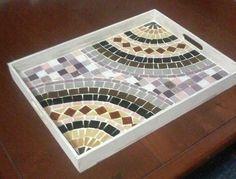 mirror mosaic diy how to make . Mosaic Tray, Mosaic Tile Art, Mosaic Pots, Mosaic Artwork, Mirror Mosaic, Mosaic Glass, Diy Mirror, Wall Mirror, Tile Crafts