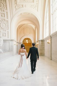 Intimate San Francisco court house wedding | Photo by Delbarr Moradi Photography | Read more - http://www.100layercake.com/blog/?p=83700