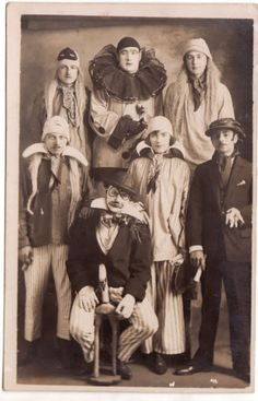 Circus performers in a formal photograph 1890s-1910s