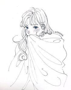 Art Drawings Sketches, Kpop Drawings, Anime Art Girl, Manga Art, Pretty Art, Cute Art, Cartoon Art Styles, Anime Sketch, Art Reference Poses