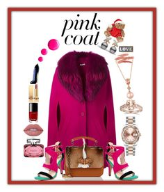 Coat Pink Favorite by donnyprabowo on Polyvore featuring polyvore, P.A.R.O.S.H., Christian Louboutin, LE VIAN, Rolex, Bliss Diamond, Lime Crime, Yves Saint Laurent, Gucci, Carolina Herrera, Chanel, Topshop, Parlane, fashion, style and clothing