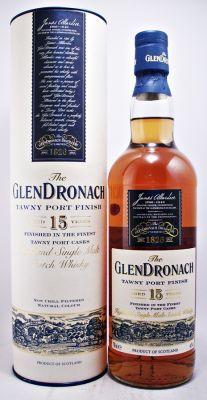 GLENDRONACH SCOTCH WHISKY 15 YEAR OLD TAWNY PORT FINISH 40% 70CL