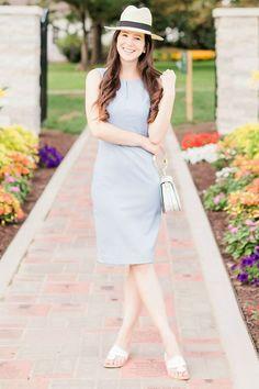 e276d90afadc How to Wear a Sheath Dress on Vacation. Vacation DressesPopular OutfitsWomen s  Fashion ...