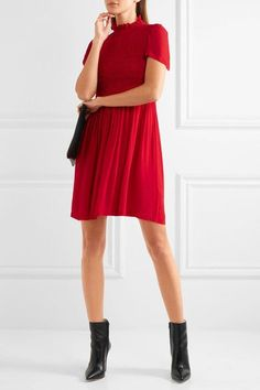Red chiffon Concealed zip fastening along back  100% viscose Dry clean