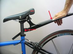 Arkel seat post rack- compresion and tension diagram