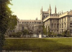 New College, Oxford, Garden Front.  I wonder which window would be Diana's kitchen?