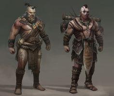 ArtStation - Tribal - Boss variants, Piotr Krezelewski