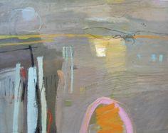 Jane Lewis, low tide, oil on canvas, 120 x 150 cm