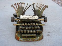 Vintage Abstract Copper Metal Typewriter by retrosideshow on Etsy