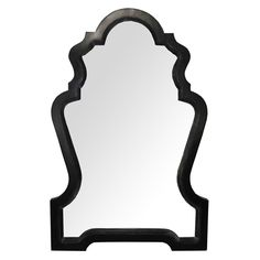 Noir Chipendale Mirror Hand Rubbed Black