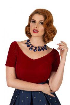 1950s Scarlet Blouse $45.00 AT vintagedancer.com