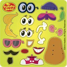 Make your own Mr. Potato Head stickers - good favor idea. $5.99