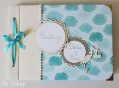 Tiz Scrap: Libro de firmas Crafts For Kids, Arts And Crafts, Paper Crafts, Pregnancy Tracking, Planners, Baby Album, Explosion Box, Christening, Mini Albums