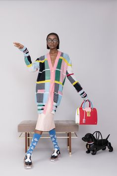 Thom Browne Resort 2019 Fashion Show Collection: See the complete Thom Browne Resort 2019 collection. Look 27 Thom Browne Resort 2019 Fashion Show Collection: See the complete Thom Browne Resort 2019 collection. Look 27 Thom Browne, Fashion Mode, Runway Fashion, Womens Fashion, Fashion Trends, Fashion Hacks, Knitwear Fashion, Knit Fashion, Cooler Look